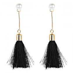 Faux Pearl Tassel Drop Dangle Earrings