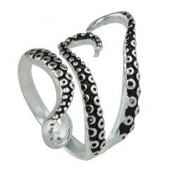 Alloy Octopus Tentacles Ring - SILVER