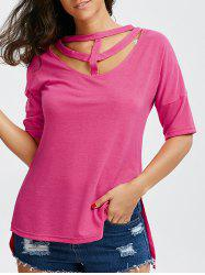 Cut Out Choker T-Shirt