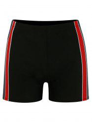 Contrast Stripe Trim Swimming Trunks