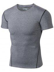 Contrast Trim Muscle Training T-shirt