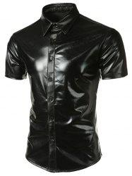 Metallic Short Sleeve Shirt