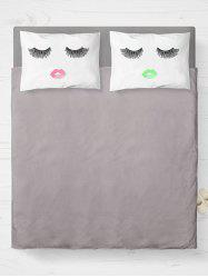 2 Pieces Face Print Brushed Fabric Pillow Case