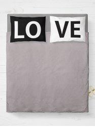 2Pcs Letter Love Bedroom Pillowcase Cover