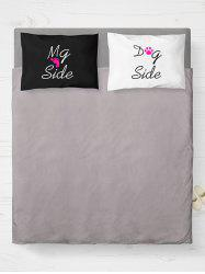 A Pair of Letter Print Bed Throw Pillow Cover