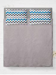 Zigzag Brushed Fabric Bed Double Pillow Case