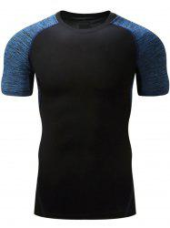 Color Block Raglan Sleeve Sports T-shirt