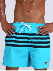 Loose Fitting Stripe Board Shorts