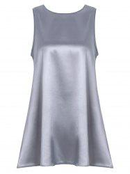 Satin Mini Sleeveless Dress