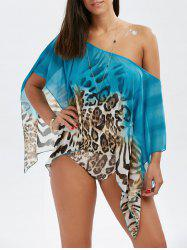 Leopard One Shoulder Swimsuit