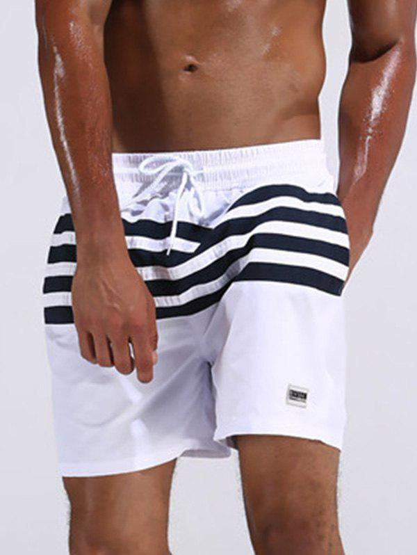 Image of Loose Fitting Stripe Board Shorts