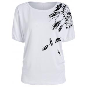 Batwing Sleeve Funny T-Shirt