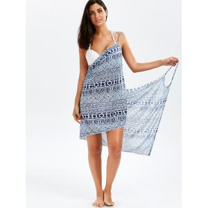 Bohemian Wrap Slip Cover-Up Dress - DEEP BLUE ONE SIZE