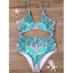 Tribal Cut Out Padded One-piece Bathing Suit