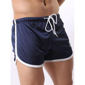 Figure Print Mesh Training Shorts -