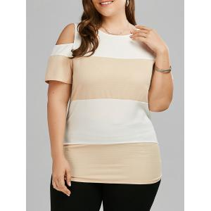 Plus Size Colorblock Cold Should Long T-shirt