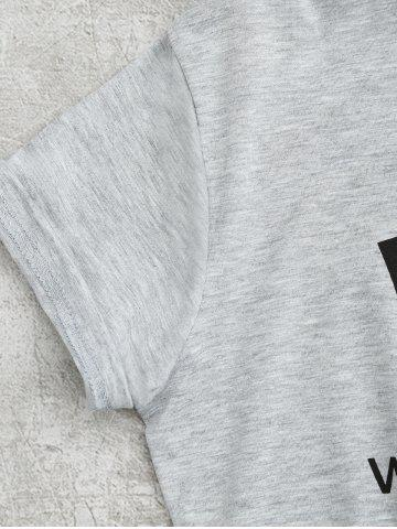 Best Tunic WTF Graphic Tee - M GRAY Mobile