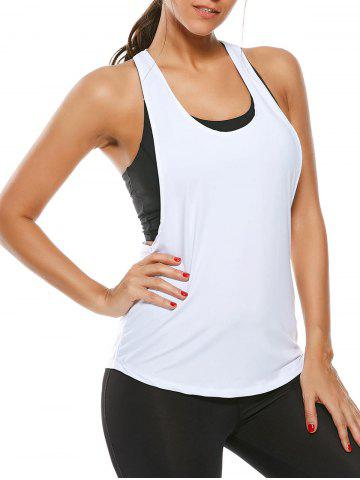 Latest Racerback Work Out Layering Running Tank Top - L WHITE Mobile