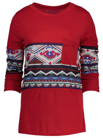 Shop Patterned Pocket Tee RED XL