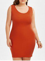 Plus Size Bodycon Tank Dress