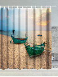 Waterproof Shower Curtain with Boat Print