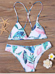 Tropical Leaf Bikini Set - COLORMIX