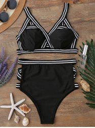 High Waisted Bandage Bikini Set