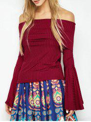 Bell Sleeve Off Shoulder T-Shirt -