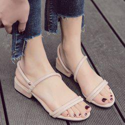 Low Heel Slip On Sandals