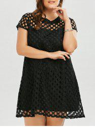 Cutout Openwork Plus Size A Line Dress