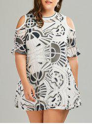 Plus Size Tank Dress and Cold Sholder Lace Dress Twinset