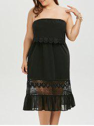 Strapless Chiffon Plus Size Homecoming Dress