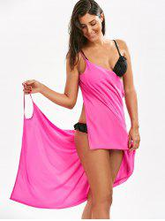 Double-Deck Chiffon Short Beach Cover Up