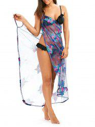 Tropical Butterfly Hawaiian Sarong Cover Up Dress