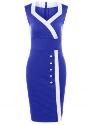 Sweetheart Neck Tight  Pencil Fitted Dress - ROYAL