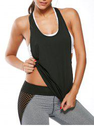 Racerback Work Out Layering Running Tank Top - BLACK