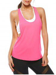 Racerback Work Out Layering Running Tank Top - TUTTI FRUTTI