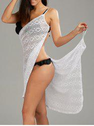 Open Back Atelier Cover-ups Robe en dentelle - Blanc
