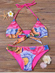 Floral Halter Neck Hawaiian Bikini Set