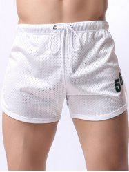 Figure Print Mesh Training Shorts