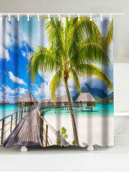 Waterproof Fabric Shower Curtain with Sea Home Print