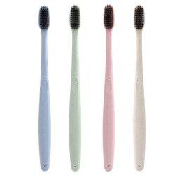 4 PCS Nylon Hair Portable Healthy Wheat Straw Toothbrush Set