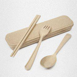 Wheat Straw Healthy 3 PCS Creative Flatware Set