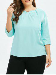 Metal Chain Keyhole Plus Size Top