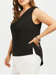 V Neck High Low Plus Size Tank Top