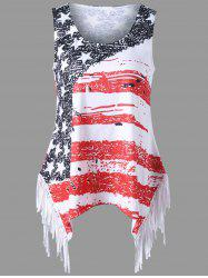 Fringe American Flag Tank Top - COLORMIX