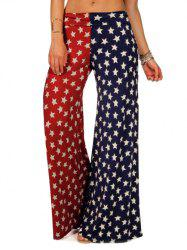 American Flag Printed Wide Leg Pants - Drapeau de US XL