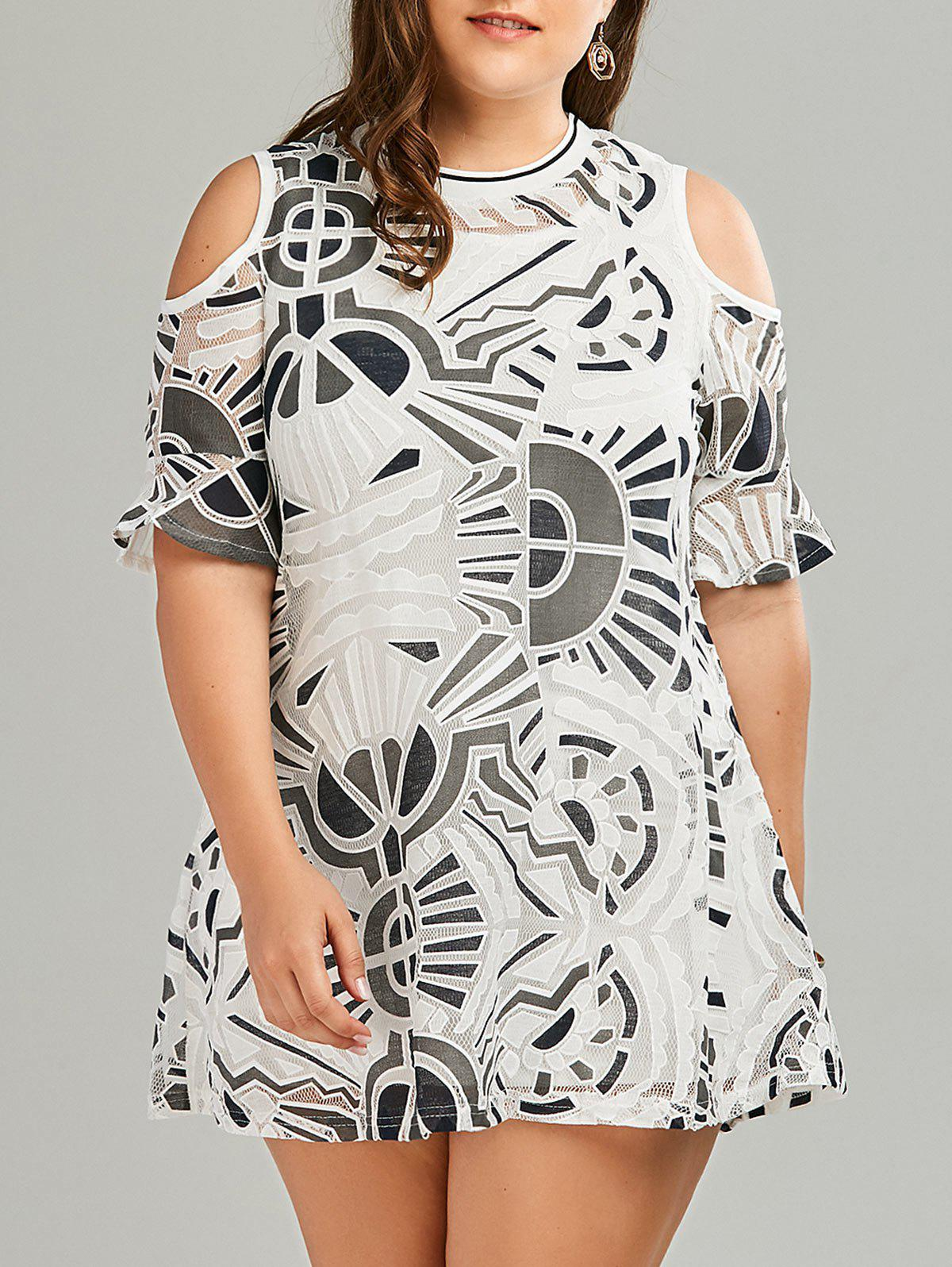 Plus Size Tank Dress and Cold Shoulder Lace Dress Twinset
