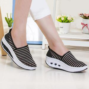 Slip On Breathable Sheer Sneakers - Black - 37