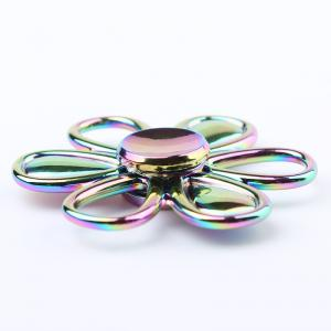 Flower Shape Colorful Fidget Metal Spinner Fiddle Toy - COLORMIX